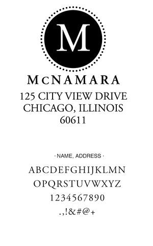 Custom Address Stamp CS3649