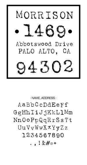 Custom Address Stamp CS3659