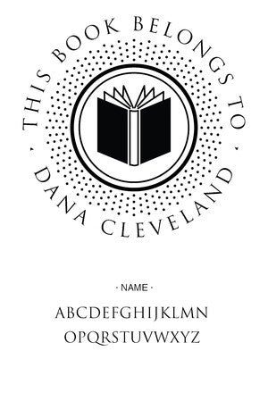 Custom Book Lovers Stamp CS3279