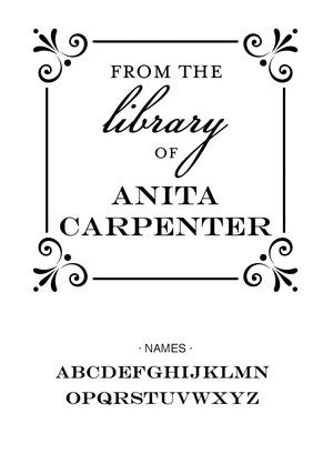 Custom Book Lovers Stamp CS3679