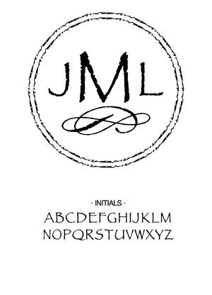 Custom Monogram Stamp CS3302
