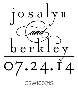 Custom Wedding Stamp CSW10021