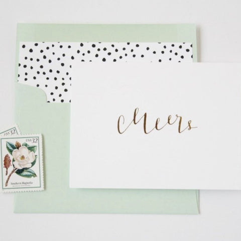 la Happy Cheers Calligraphy Card Set