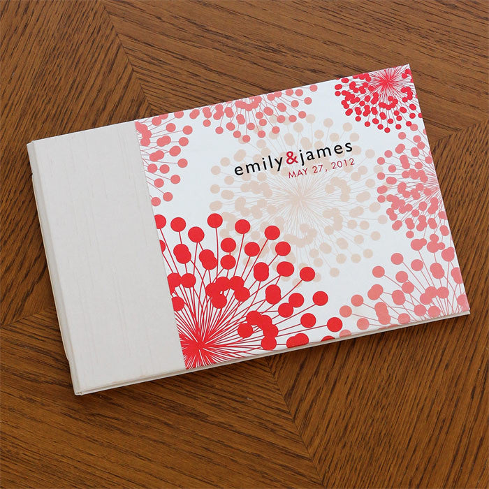 Personalized Guestbook Coral Blooms