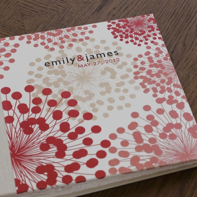 Personalized Small Album Coral Blooms
