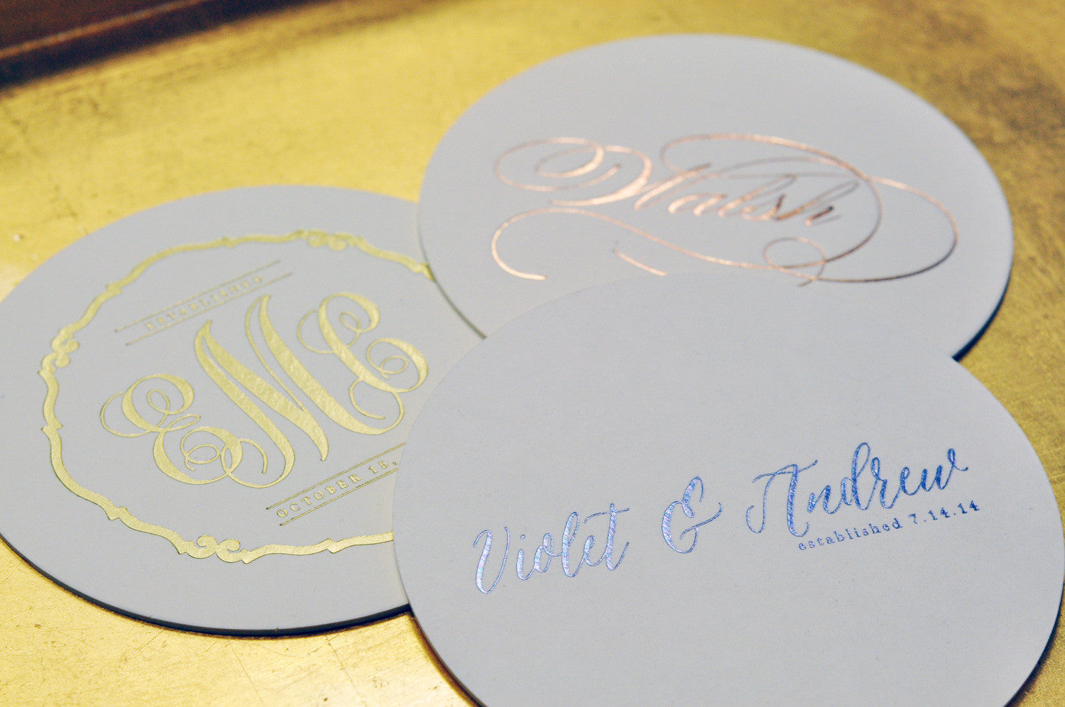 Foil Stamped Coasters - M113