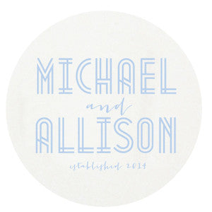 Letterpress Coasters - Deco Wedding