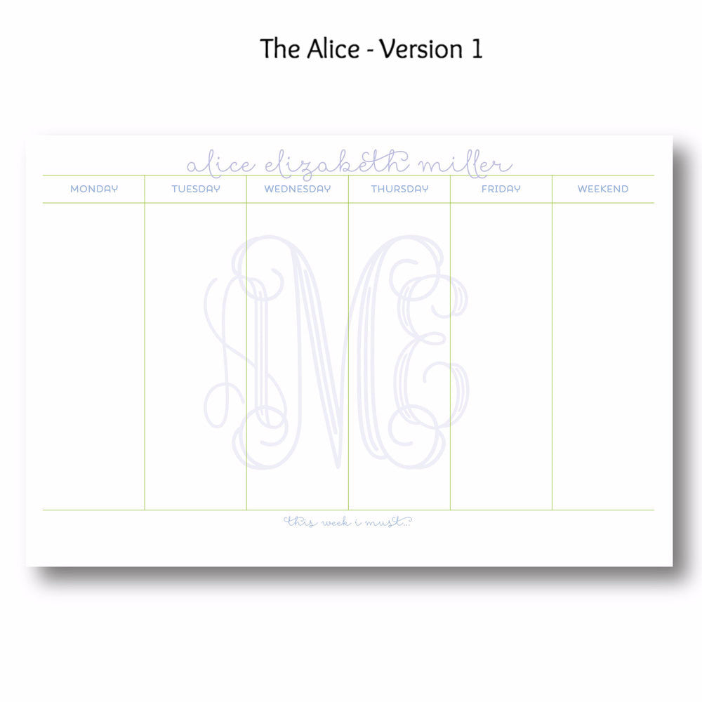 Alice - Personalized Desk Pad