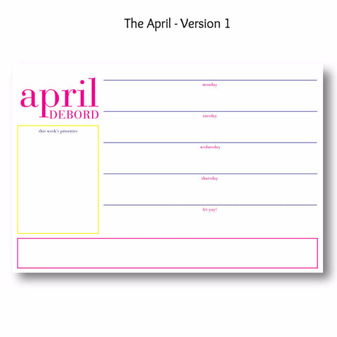 April - Personalized Desk Pad