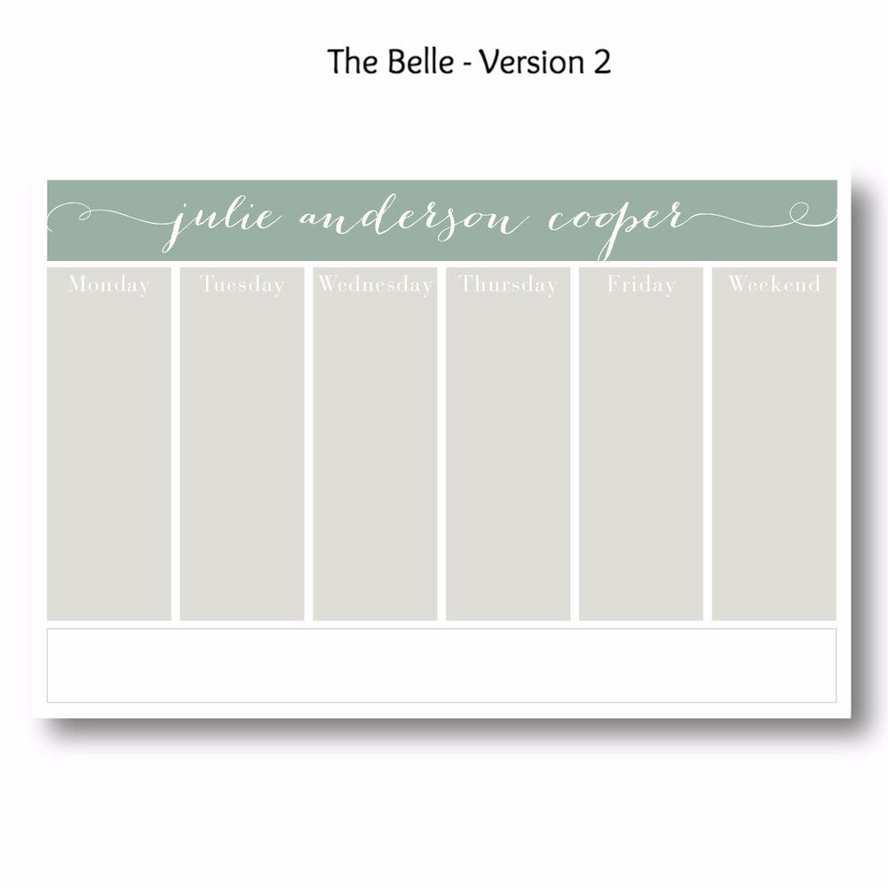 Belle - Personalized Desk Pad