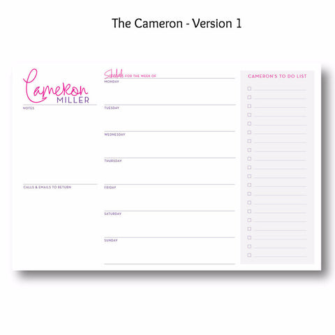 The Cameron - Personalized Desk Pad