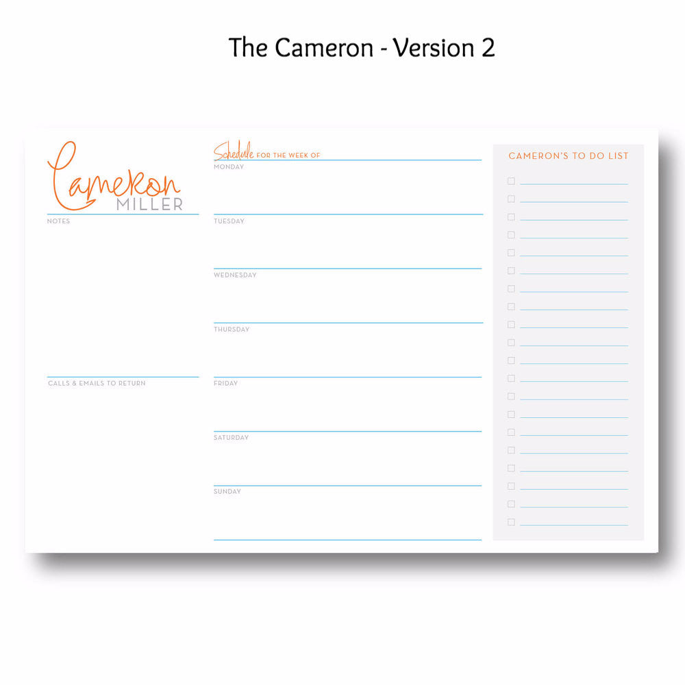 Cameron - Personalized Desk Pad