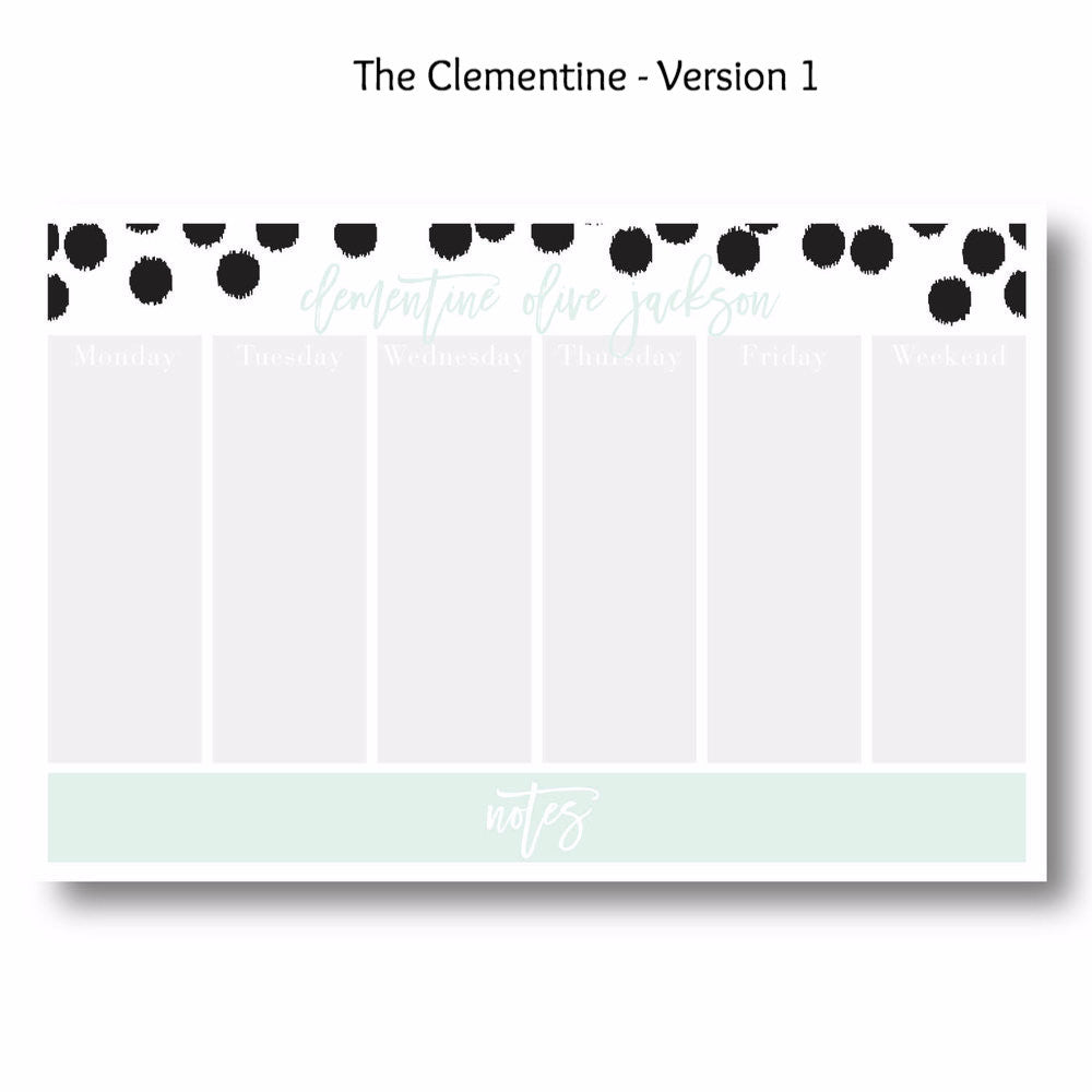 Clementine - Personalized Desk Pad