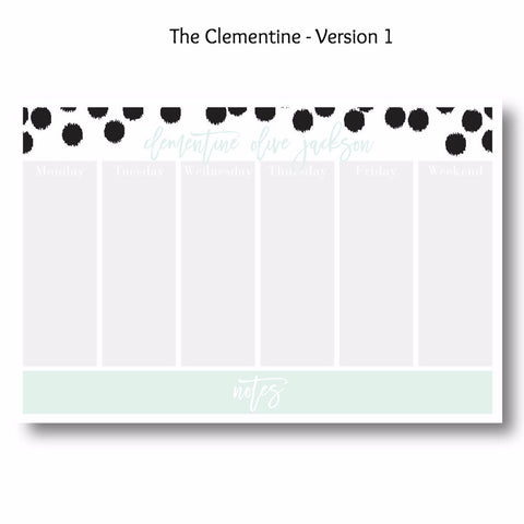 The Clementine - Personalized Desk Pad