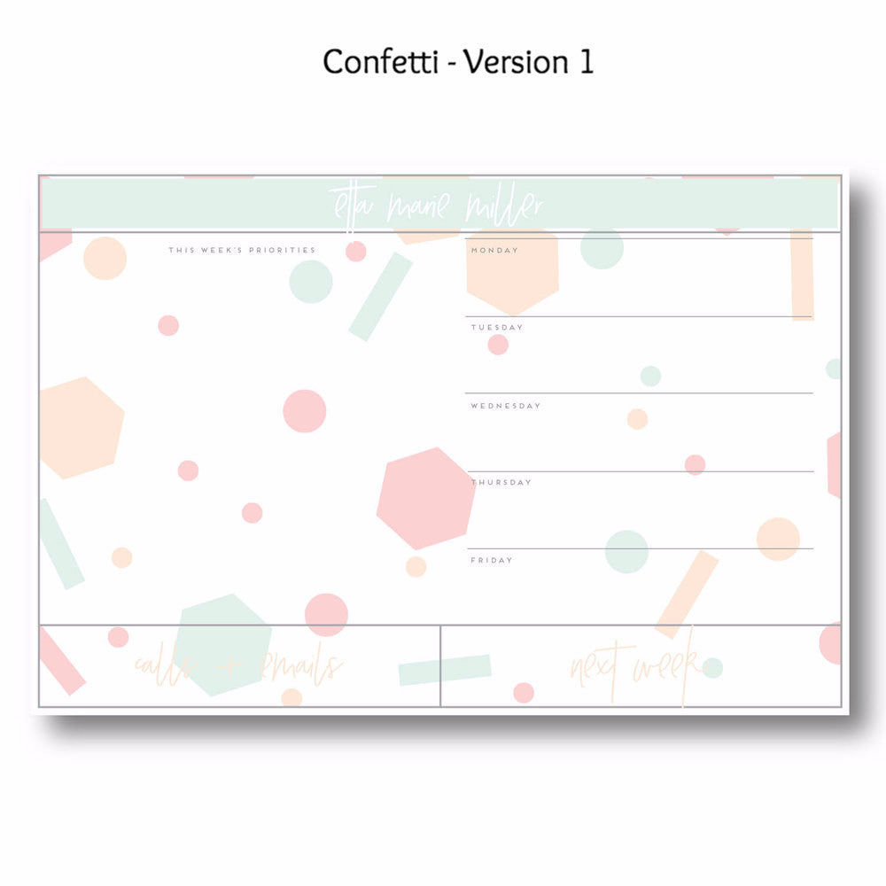 Confetti - Personalized Desk Pad