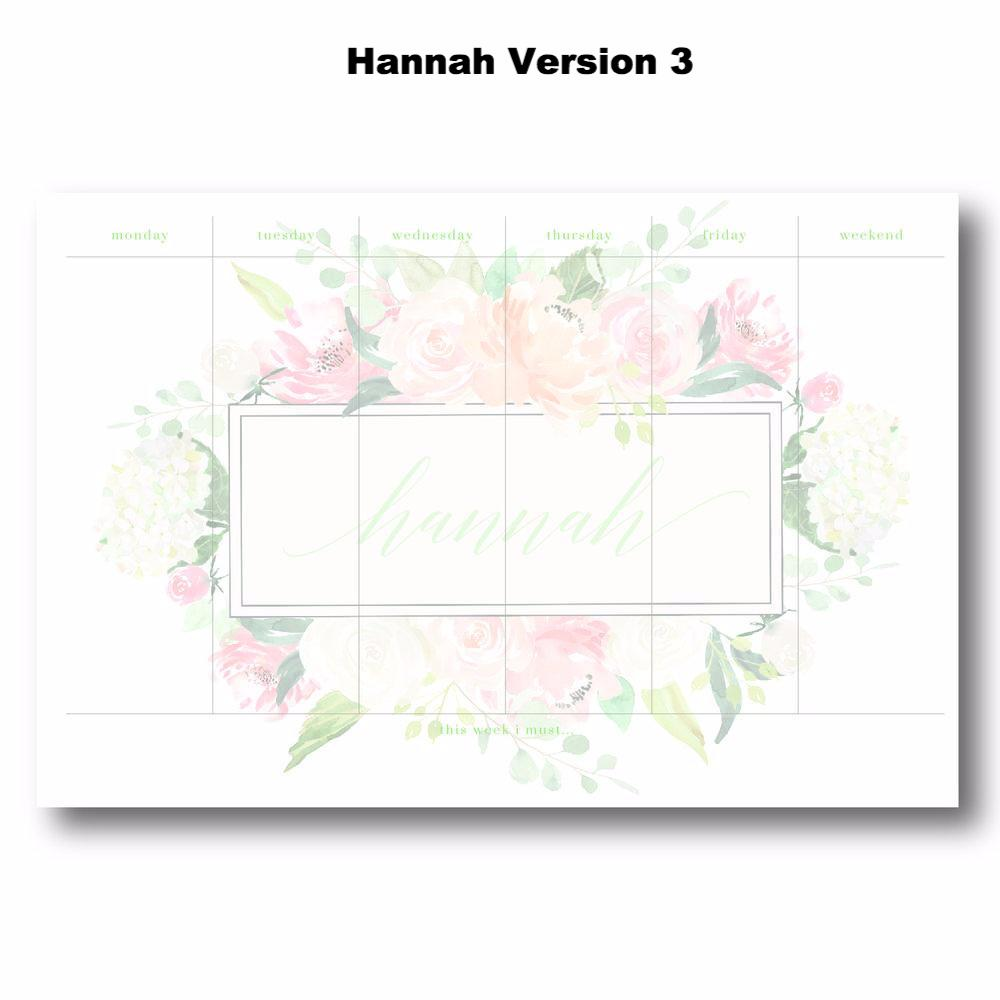 Hannah - Personalized Desk Pad