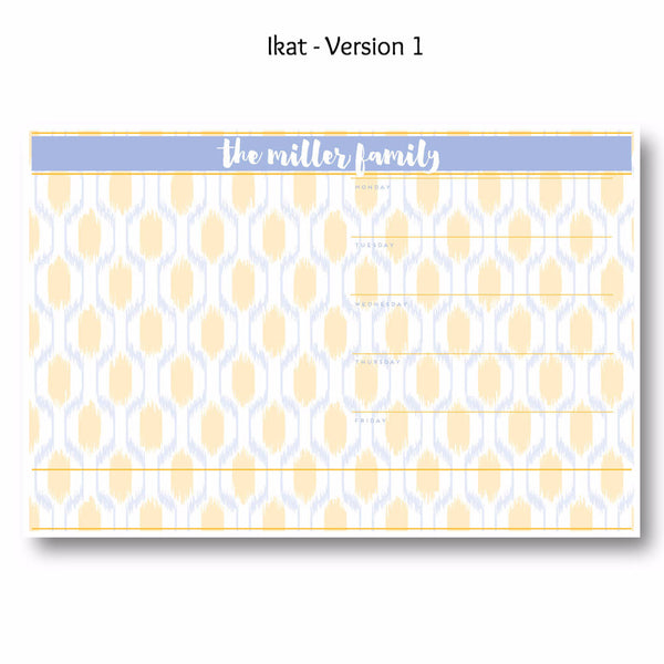 Ikat - Personalized Desk Pad