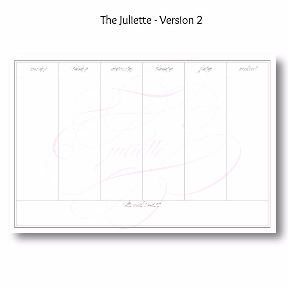 Juliette - Personalized Desk Pad