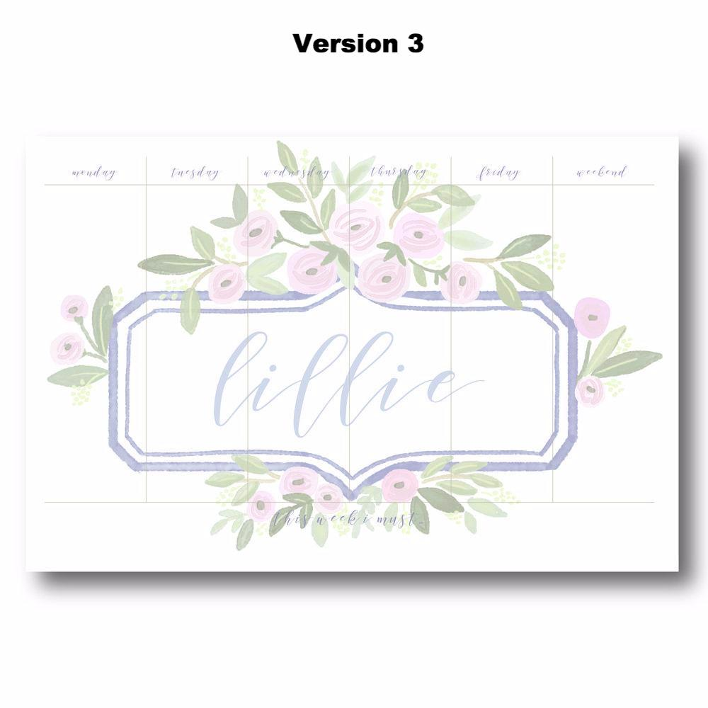 Lillie - Personalized Desk Pad