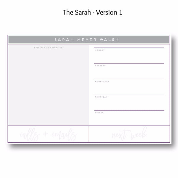 The Sarah - Personalized Desk Pad