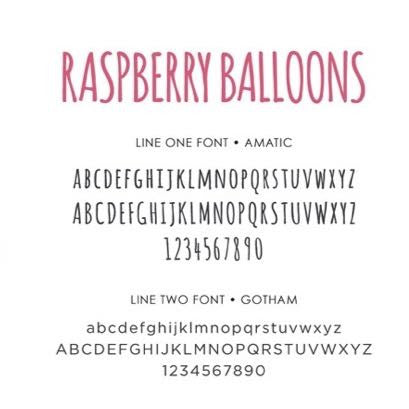 Personalized Baby's First Book Raspberry Balloons