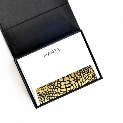 Petite Silk Stationery Box - Black