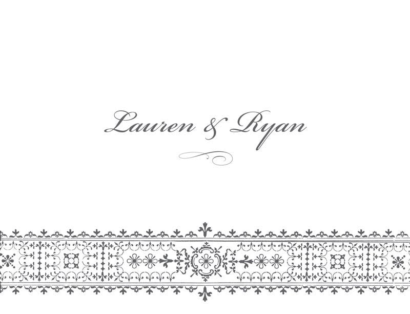 Intricate Border - Bridal Stationery