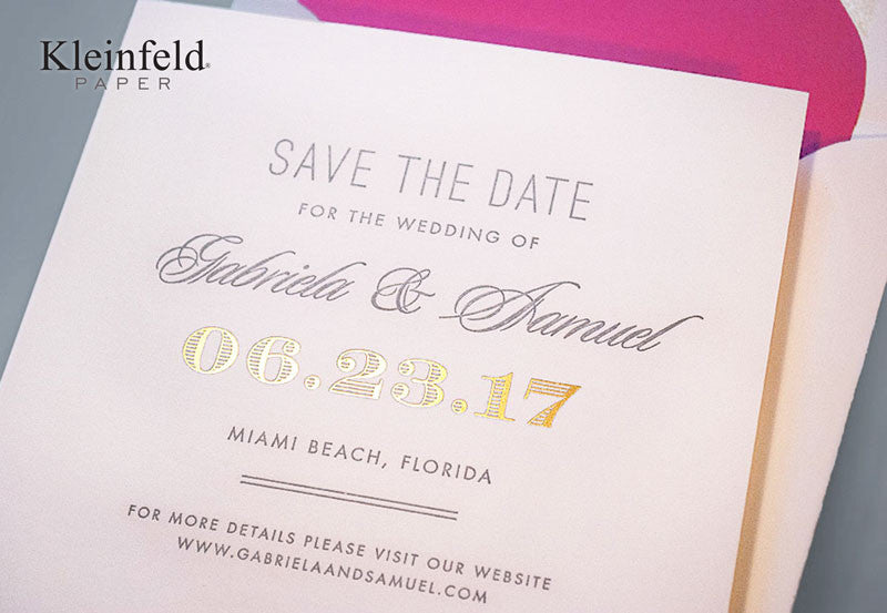 Modern Laurel - Save the Date