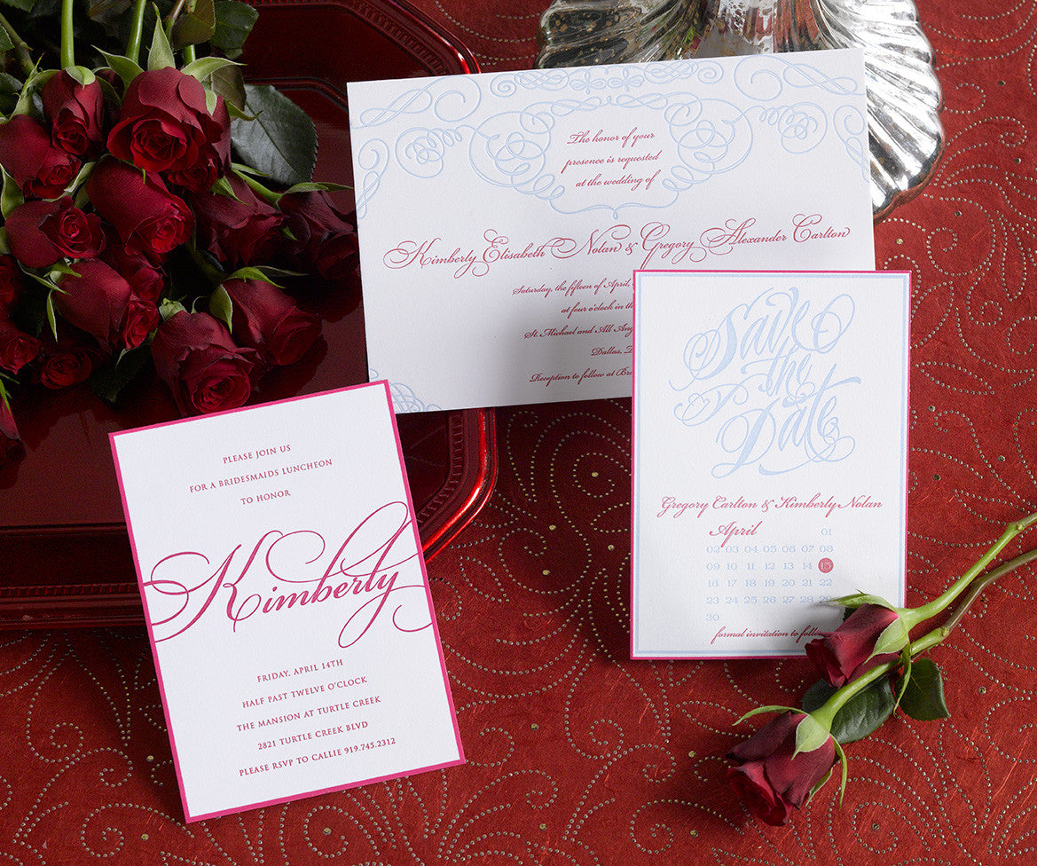 Kim and Greg Wedding Invitation Suite by Pickett\'s Press | Paper & Pearl
