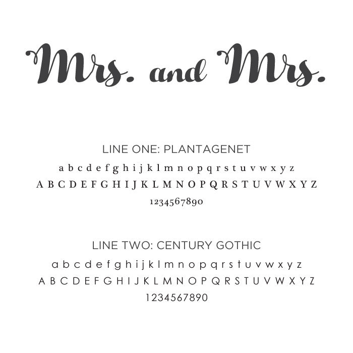 Personalized Large Album Mrs. and Mrs.