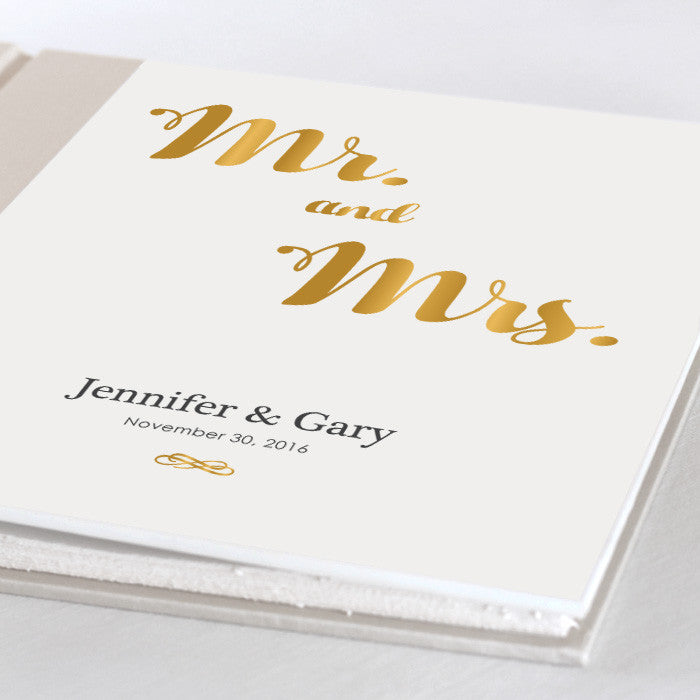 Personalized Large Album Mr. and Mrs.