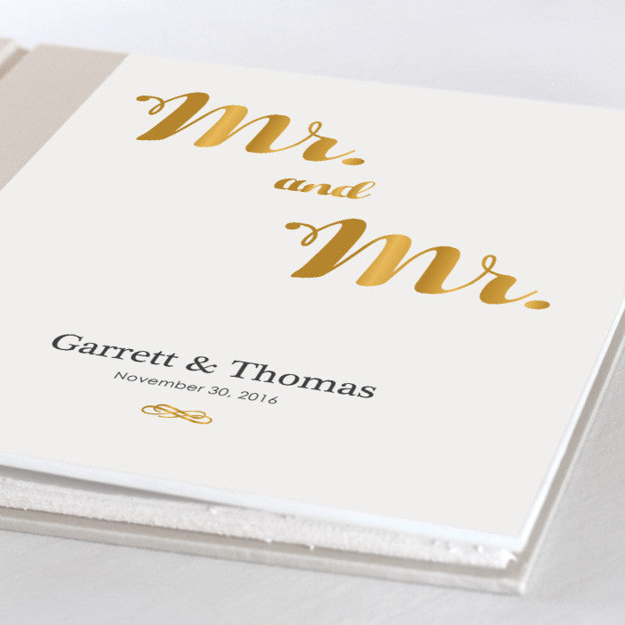Personalized Large Album Mr. and Mr.