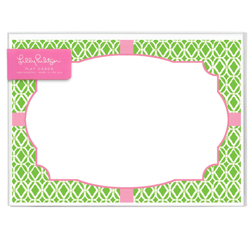 Bamboo Green Correspondence Cards by Lilly Pulitzer®