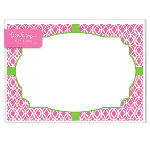 Bamboo Pink Correspondence Cards by Lilly Pulitzer®