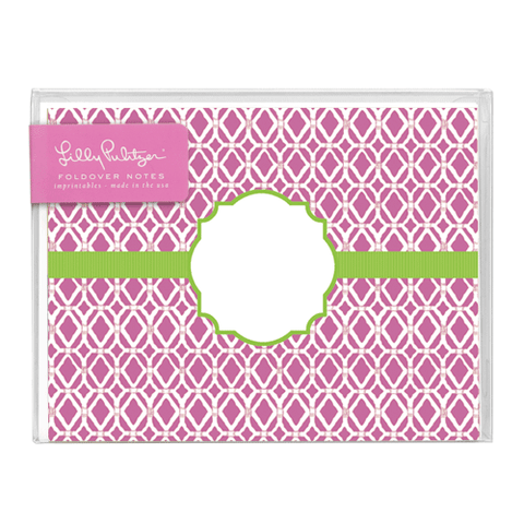 Bamboo Pink Folded Notes by Lilly Pulitzer®