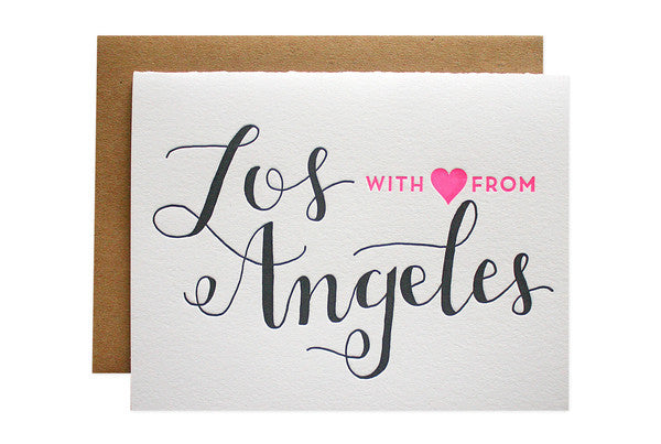 With love from Los Angeles note cards
