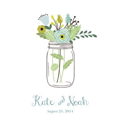 Personalized Guestbook Mason Jar