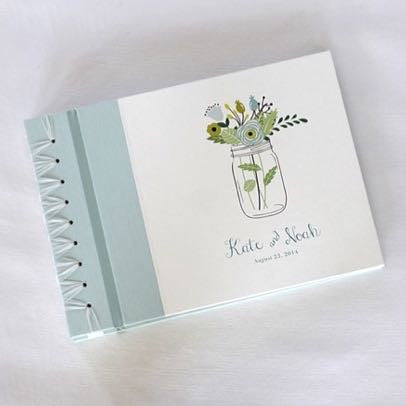 Personalized Large Album Mason Jar