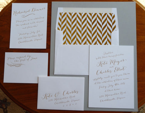Kate - Haute Papier Luxe Deux Wedding