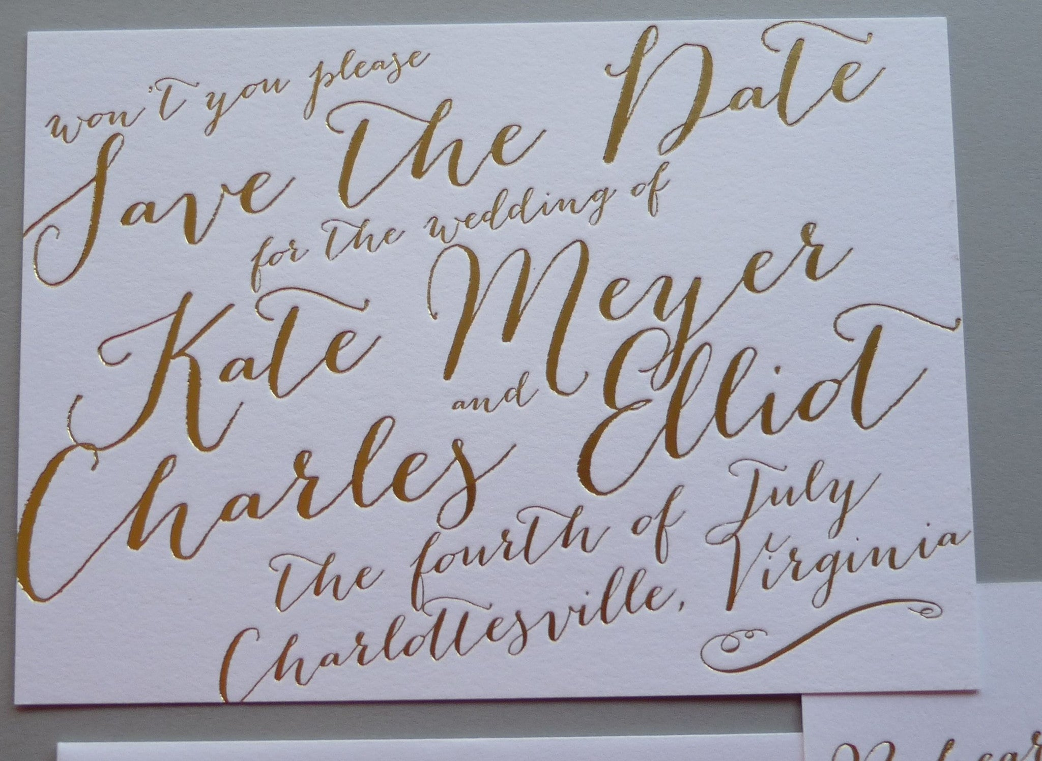 Kate - Haute Papier Luxe Deux Save the Date
