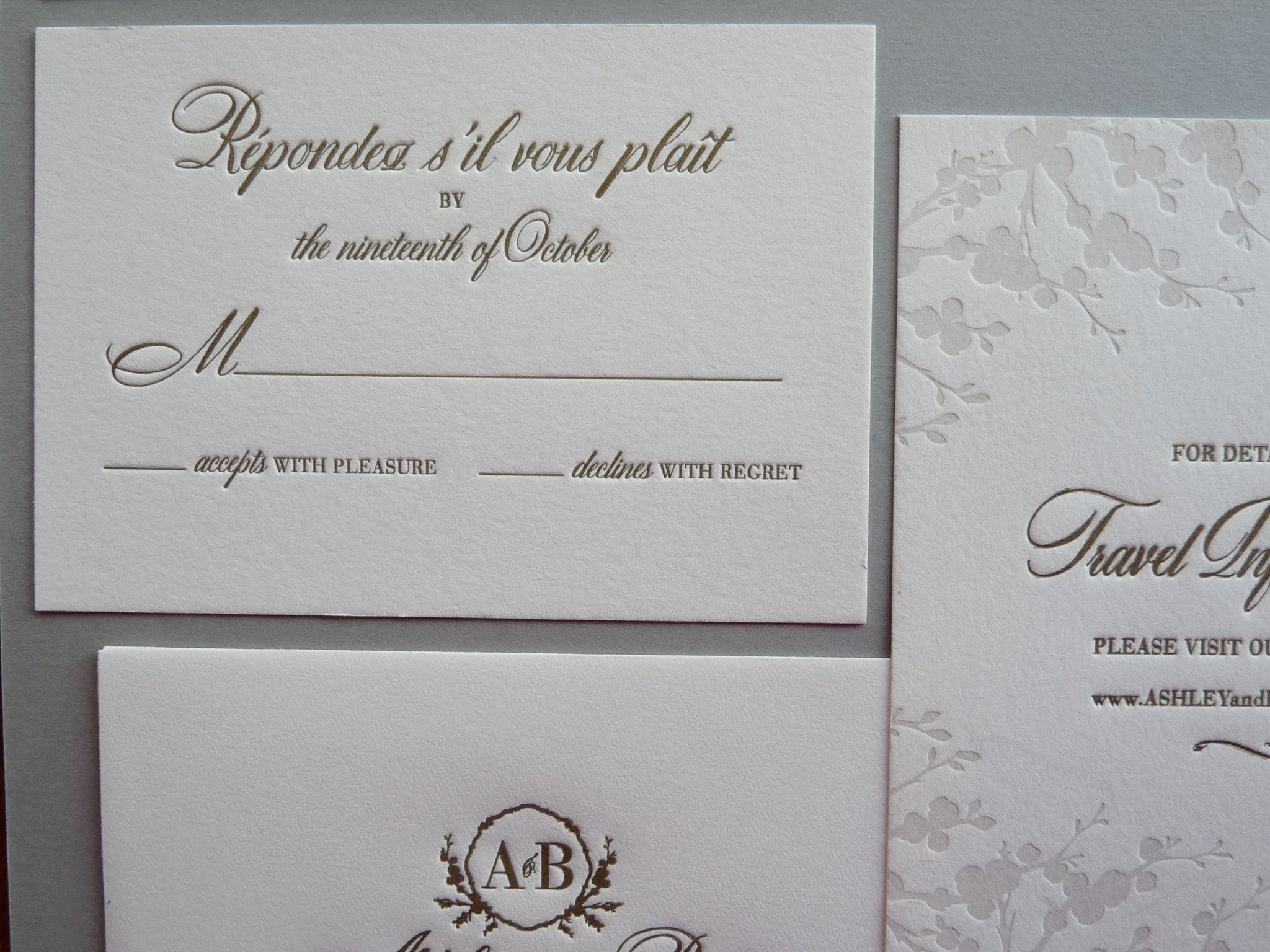 Ashley - Haute Papier Luxe Deux Wedding