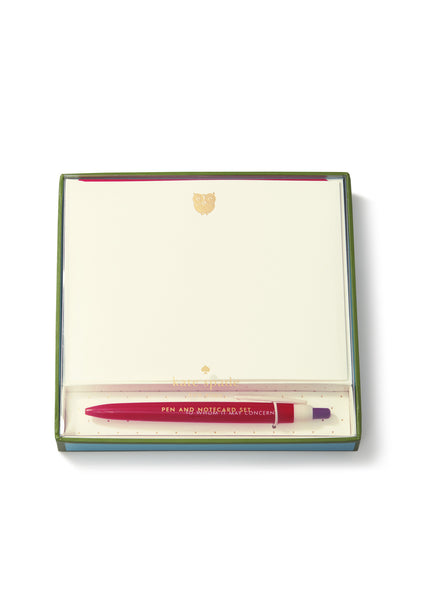 kate spade new york® yours sincerely pen and notecard set