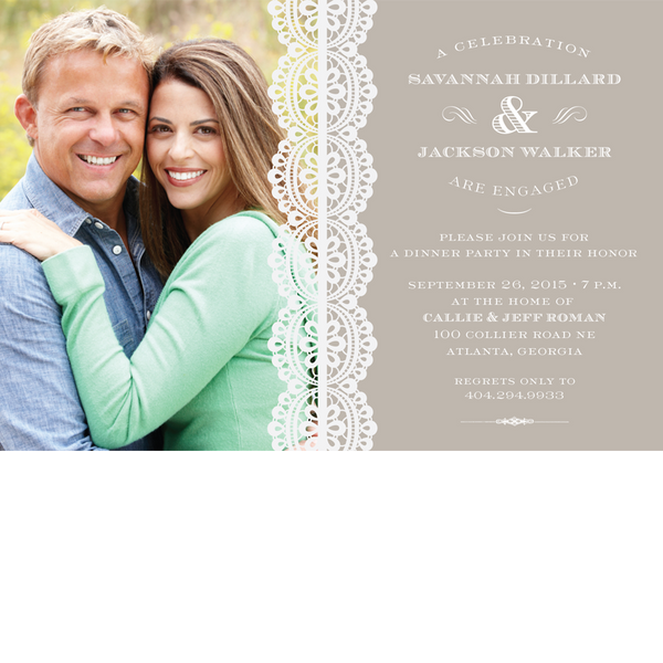 Platinum Lace Save the Date