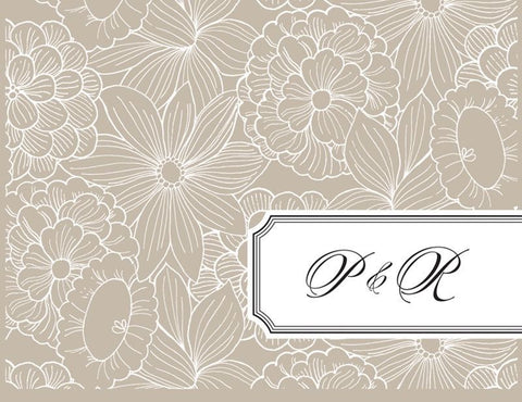 Platinum Lined Floral - Bridal Stationery