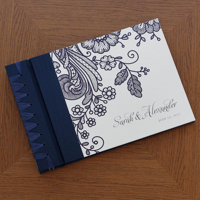 Personalized Large Album Prussian Lace Navy
