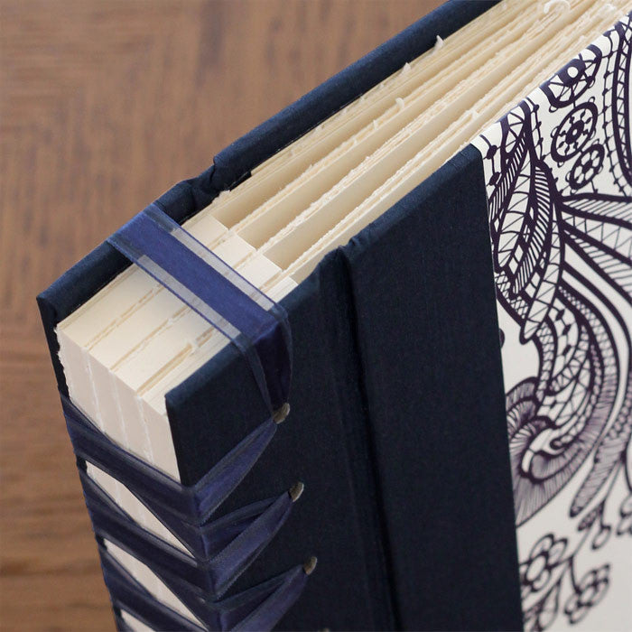 Personalized Small Album Prussian Lace Navy