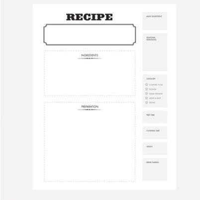Recipe Journal - Mix Things Up