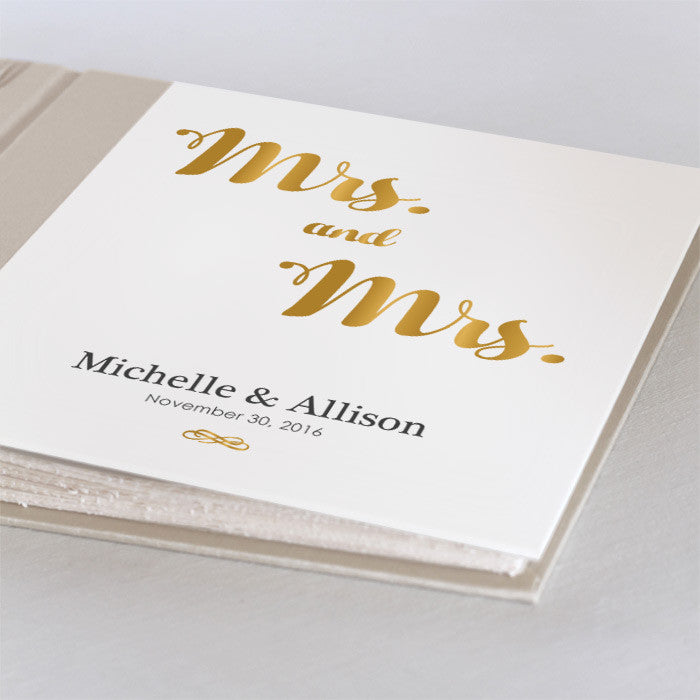 Personalized Small Mrs. and Mrs.