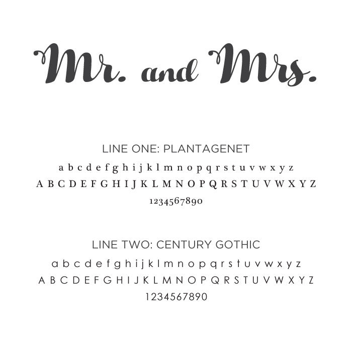 Personalized Small Mr. and Mrs.