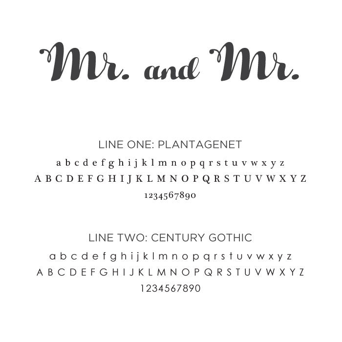 Personalized Small Mr. and Mr.